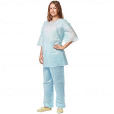 Костюм хирургический - рубашка и брюки Гекса плотность 42 размер 56-58 нестерильный
