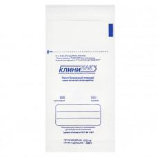 Пакет из влагопрочной бумаги для медицинской воздушной и паровой стерилизации Клинипак 80х150 мм белый 100 шт