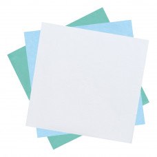 Бумага крепированная мягкая для паровой и газовой стерилизации DGM 750х750 мм белая-зеленая 250 шт