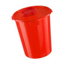 Контейнер для утилизации игл КМ-Проект класс В 6 л красный