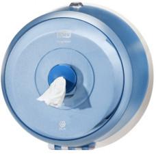 Диспенсер для туалетной бумаги Tork SmartOne mini 472026 полупрозрачный синий
