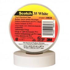 Изоляционная лента 3М scotch высший сорт 19 мм 20 м белая