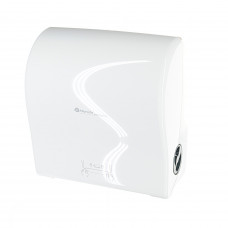 Автоматический диспенсер бумажных полотенец в рулонах Merida solid cut MAXI белый глянец
