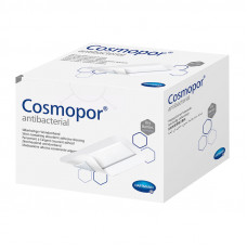 Повязка Cosmopor Antibacterial самоклеющаяся серебросодержащая 5х7,2 см 25 шт