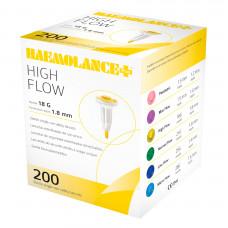 Ланцет автоматический Haemolance Plus Highl Flow 1,8 мм 18G желтый 200 шт