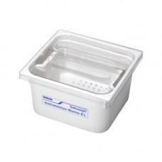 Ванна для обработки инструментария с крышкой и съемным сетчатым фильтром 8 л