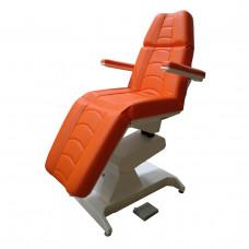 Кресло процедурное с электроприводом Ондеви-2 ОД-2 с прямыми откидными подлокотниками, держателем для инвазивной стойки и ножной педалью у