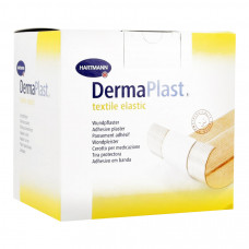 Пластырь Dermaplast textil elastic гипоалергенный эластичный 6 см 5 м телесный