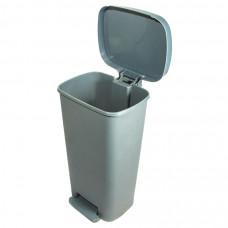 Бак с педалью для медицинских отходов Инновация класс А 50 л серый