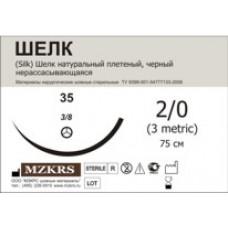 Шелк плетеный М1.5 (4/0) 45 см 25 шт 062012К1