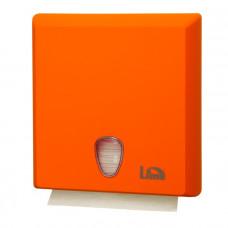 Диспенсер для полотенец LIME Color A70610EAS оранжевый, с покрытием Soft Touch, Z-сложение