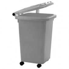 Контейнер для медицинских отходов КМ-Проект класс Б 50 л серый на колесах