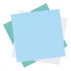 Бумага крепированная мягкая для паровой и газовой стерилизации DGM 500х500 мм голубая 500 шт