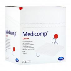 Салфетки Medicomp drain steril стерильные 6 слоев 7,5х7,5 см 25х2 шт