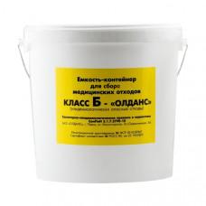 Контейнер для органических и токсичных медицинских отходов Олданс класс Б 3 л желтый