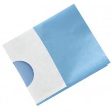Простыня наглазник стерильная с липким слоем отверстием 5,5 см и карманом 20х20 см 40 г/м 70х120 см