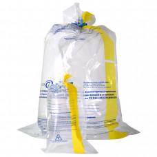 Пакеты для сбора и термической обработки медико-биологических отходов Абрис 750х600 мм желтая полоса ПП с индикатором 60 мкм 100 шт