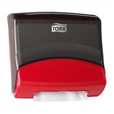Диспенсер для материалов в салфетках Tork 654008 красный
