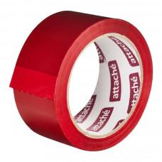 Клейкая лента упаковочная Attache 45 мкм 48 мм 66 м красный