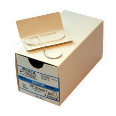 Даклон белый плетеный USP М1.5 (4/0) режущая игла 25 мм 75 см 1/2 12 шт