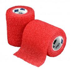 Бинт фиксирующий Coban 3M самоскрепляющийся эластичный 7,5 см 4,6 м красный 24 шт