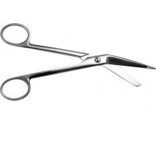 Ножницы для разрезания повязок с пуговкой П-27-106 горизонтально изогнутые 185 мм