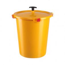 Контейнер для медицинских отходов КМ-Проект класс Б 12 л желтый с утопителем без краника