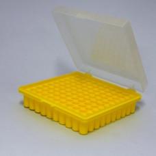 Штатив для микропробирок Эппендорф 100 ячеек 1,5 мл с крышкой RP-100