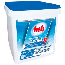 Двухслойная таблетка 6 в 1 HTH Maxitab Action 6, таблетка 250г, 5 кг