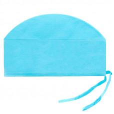 Шапочка-колпак 18х58 см плотность 40 на завязках голубой 100 шт