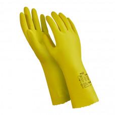 Перчатки Manipula Блеск L-F-01 из латекса желтые размер 9 L