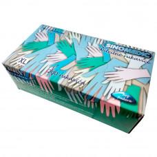 Перчатки смотровые неопудренные нитриловые SINOMEDIC 3,5 г фиолетовые XL 100 пар