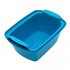 Емкость-контейнер 10 л КДС-10 голубая 450х325х205 мм