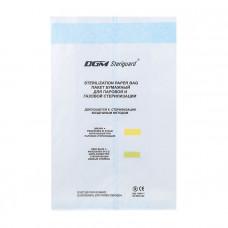 Пакеты бумажные со складкой для паровой газовой и воздушной стерилизации DGM 110х30х190 мм 1000 шт