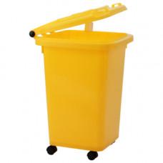 Контейнер для медицинских отходов КМ-Проект класс Б 50 л желтый на колесах