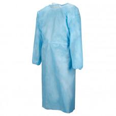 Халат хирургический Евростандарт рукав-резинка 140 см плотность 25 стерильный с завязками размер 52-54