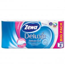 Туалетная бумага Zewa Deluxe 3 слоя 21 м 8 шт