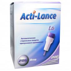 Ланцет Acti-lance Lite игла 28G 1,5 мм кровоток низкий фиолетовый