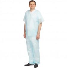 Костюм хирургический - рубашка и брюки плотность 42 размер 52-54 нестерильный