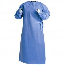 Халат хирургический Евростандарт рукав-манжета 140 см плотность 60 нестерильный на завязках и липучке