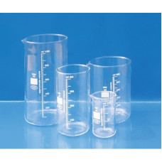 Стакан стеклянный лабораторный 1000 мл высокий градуированный