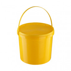 Контейнер для органических отходов КМ-Проект класс Б 10 л желтый с ручкой одноразовый