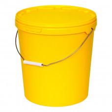 Бак для медицинских отходов Респект класс Б 20 л желтый с ручкой
