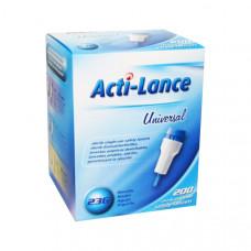 Ланцет Acti-lance Universal игла 23G 1,8 мм кровоток средний синий 200 шт
