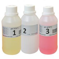 Набор буферных растворов pH 4, pH 7 и 465 мВ по 50 см3 Seko 128753 9900102009